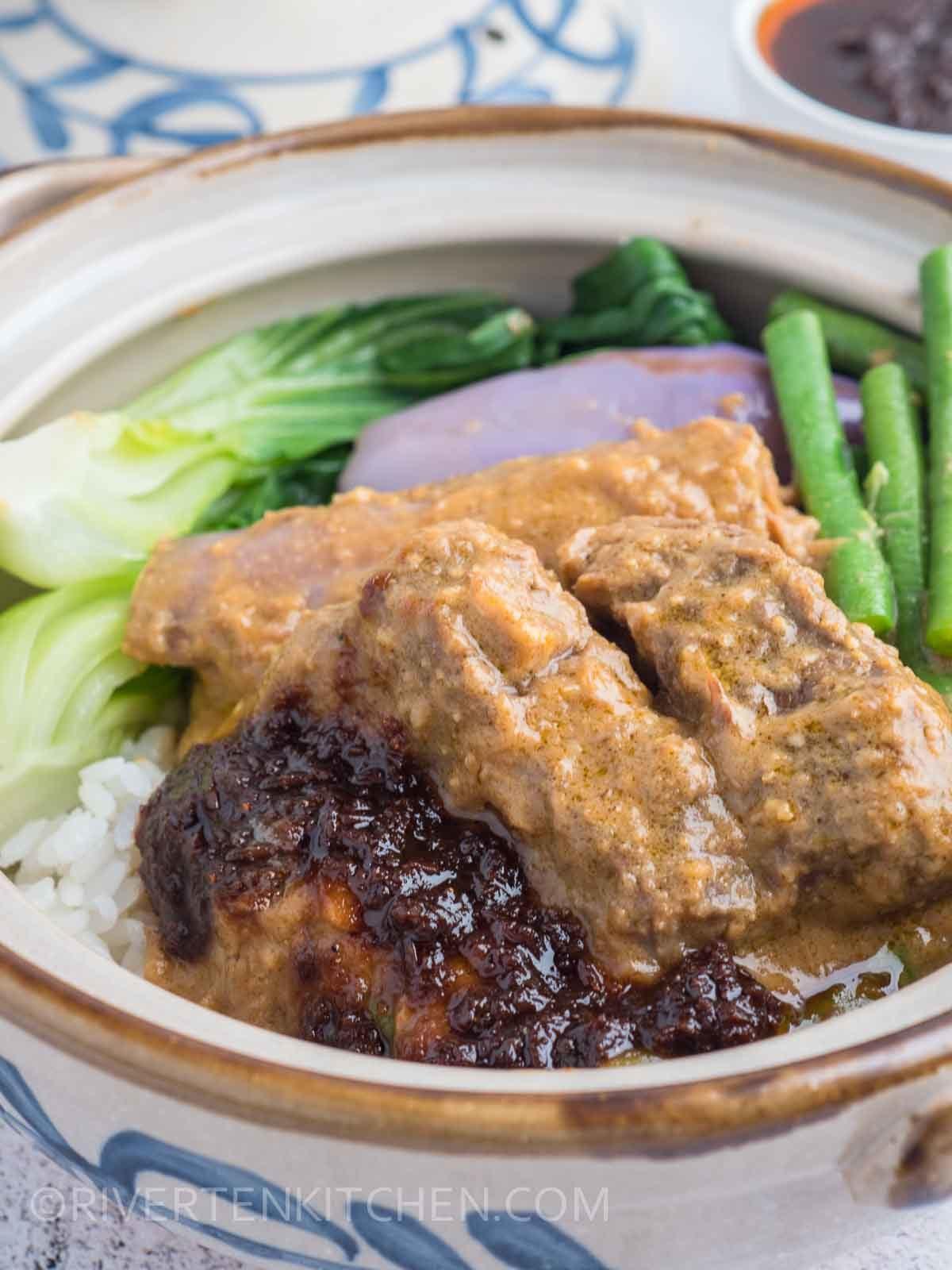 Beef Kare Kare with Bagoong